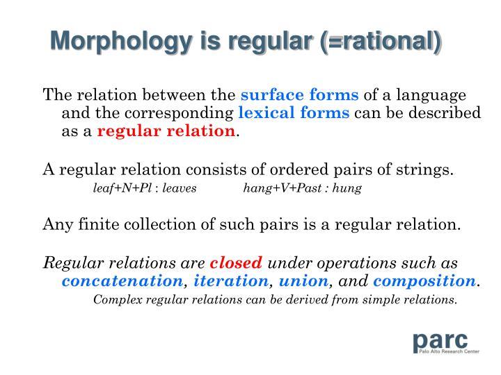 Morphology is regular (=rational)