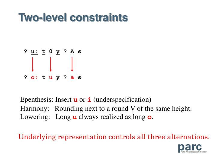 Two-level constraints
