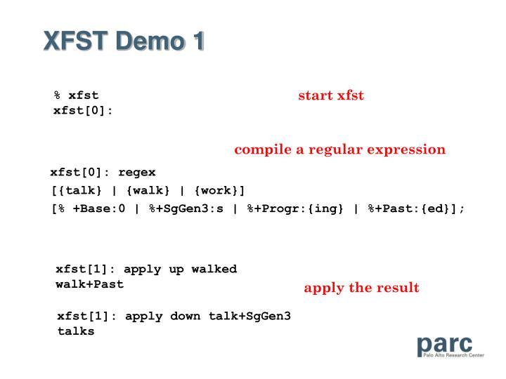 XFST Demo 1