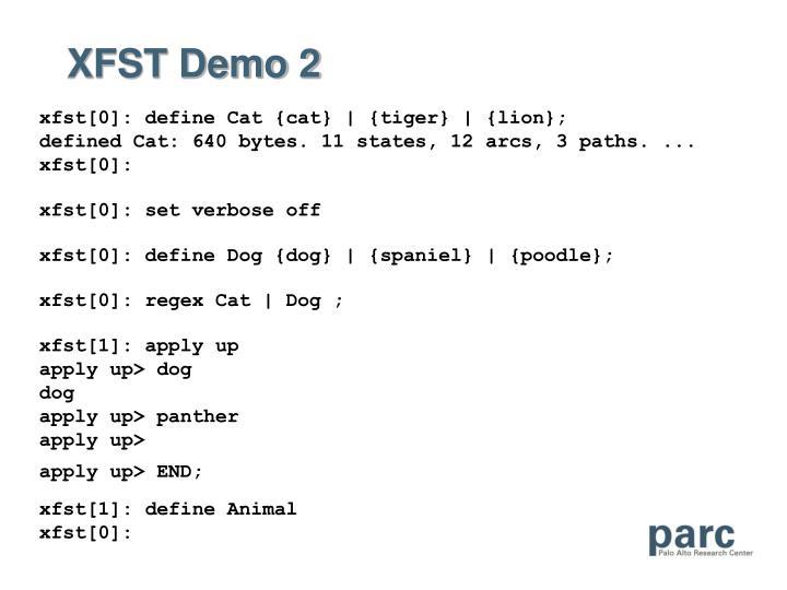 XFST Demo 2
