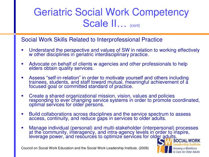 Geriatric Social Work Competency Scale II…