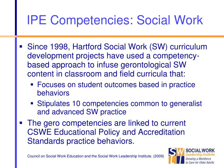 IPE Competencies: Social Work