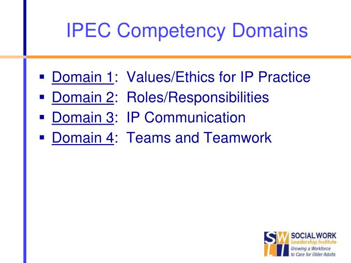 IPEC Competency Domains