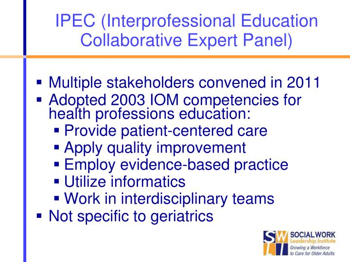 IPEC (Interprofessional Education Collaborative Expert Panel)