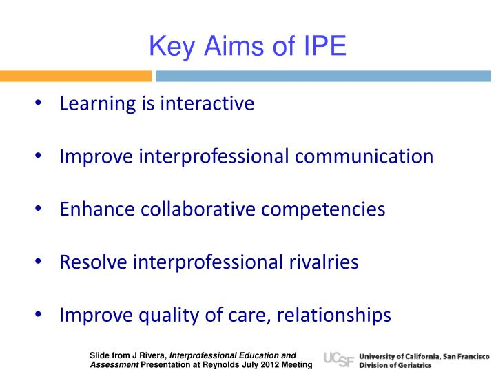 Key Aims of IPE