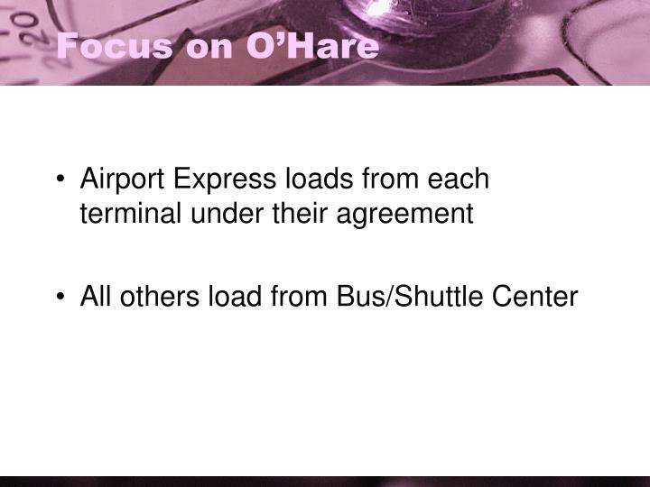 Focus on O'Hare