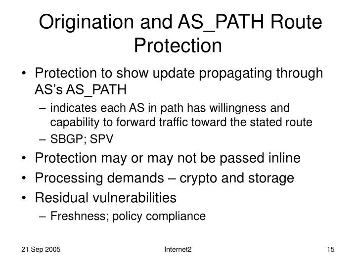 Origination and AS_PATH Route Protection