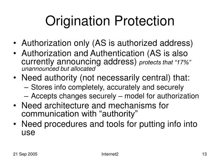 Origination Protection