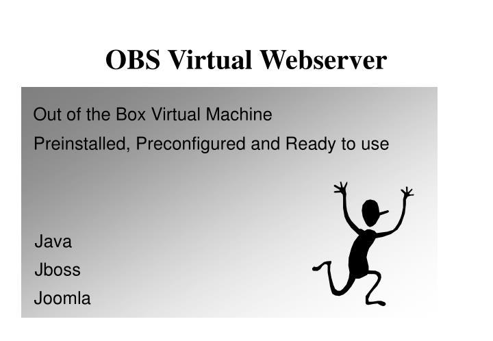 OBS Virtual Webserver