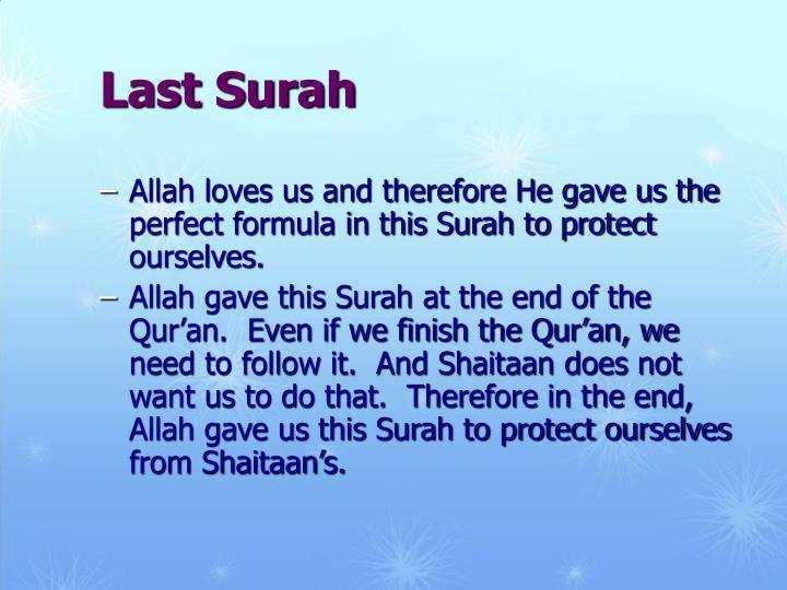 Last Surah