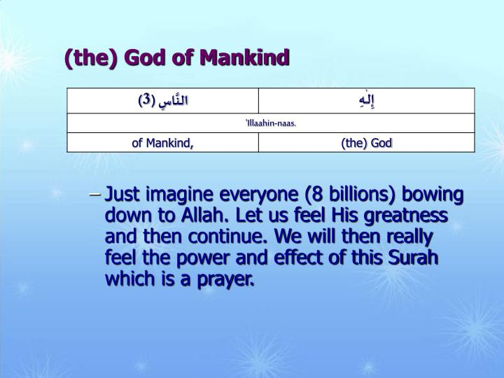 (the) God of Mankind