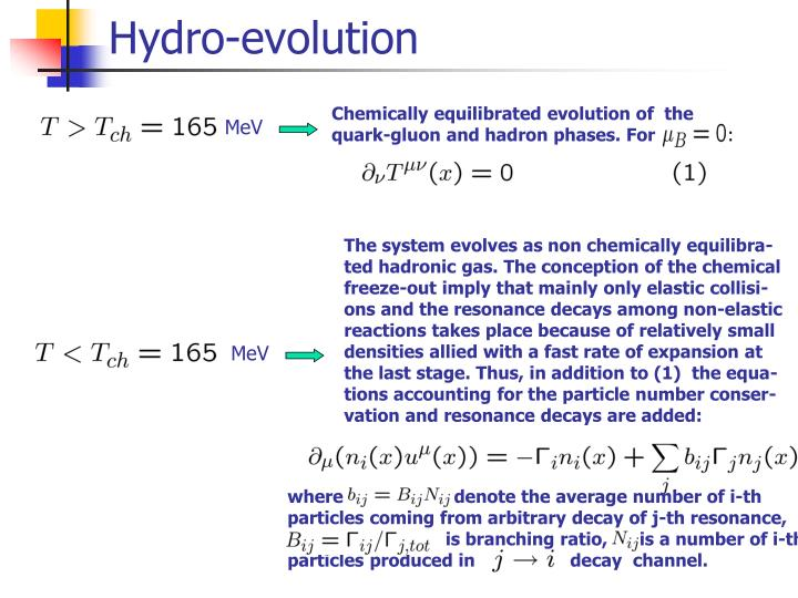Hydro-evolution