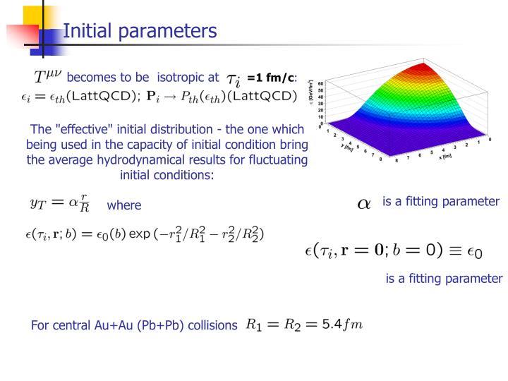 Initial parameters