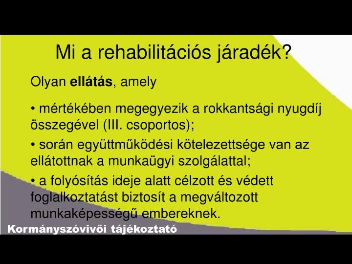 Mi a rehabilitációs járadék?