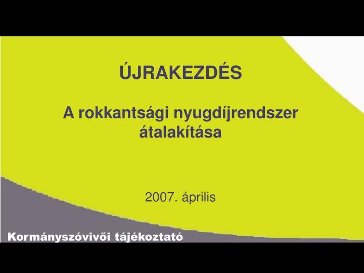 ÚJRAKEZDÉS