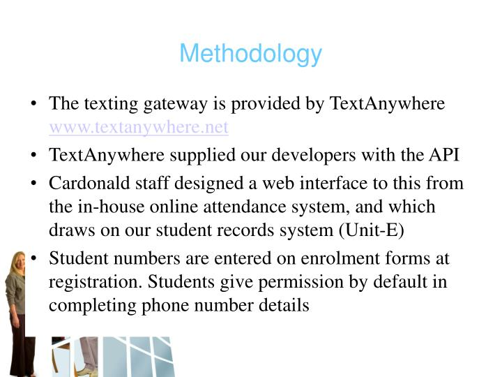 The texting gateway is provided by TextAnywhere