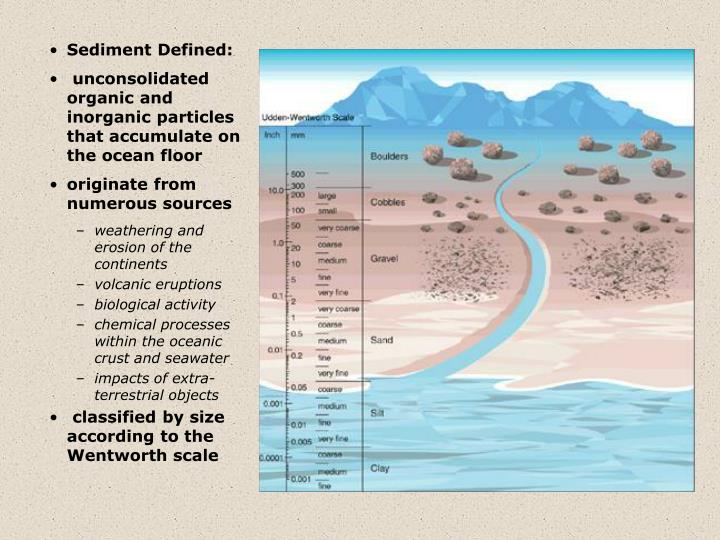 Sediment Defined: