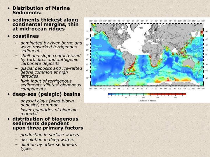 Distribution of Marine Sediments: