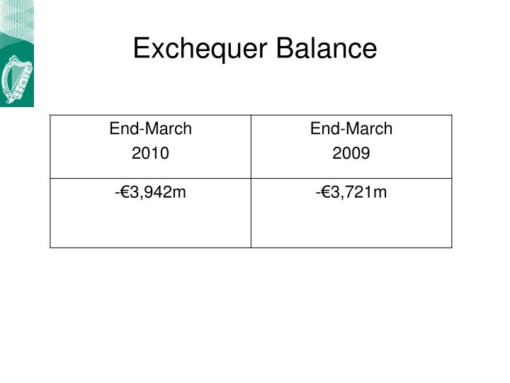 Exchequer Balance