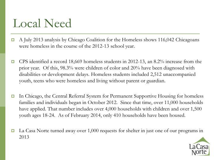 Local Need