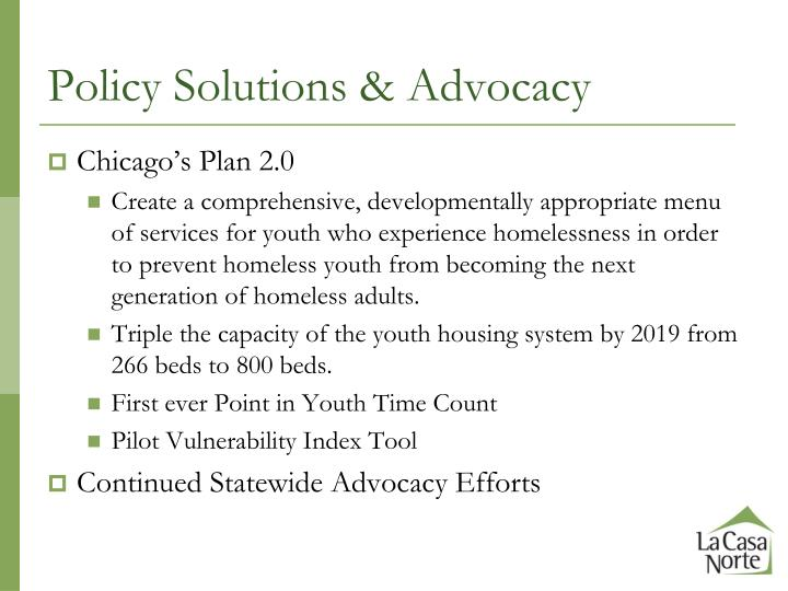 Policy Solutions & Advocacy