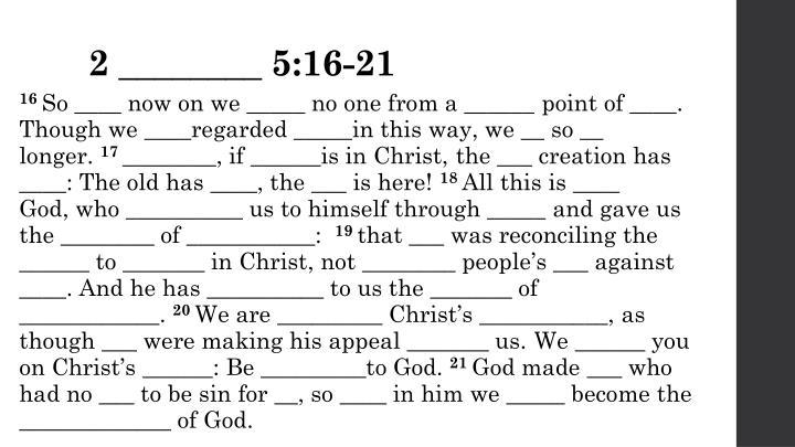 2 ________ 5:16-21