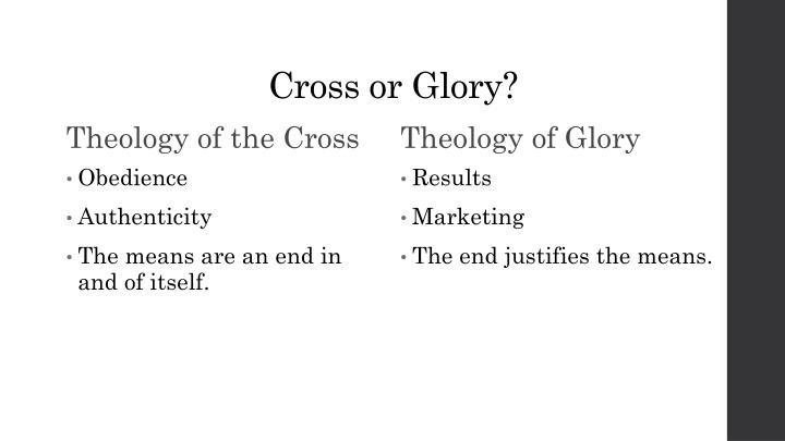 Cross or Glory?