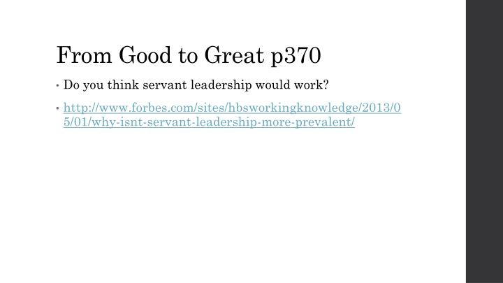 From Good to Great p370