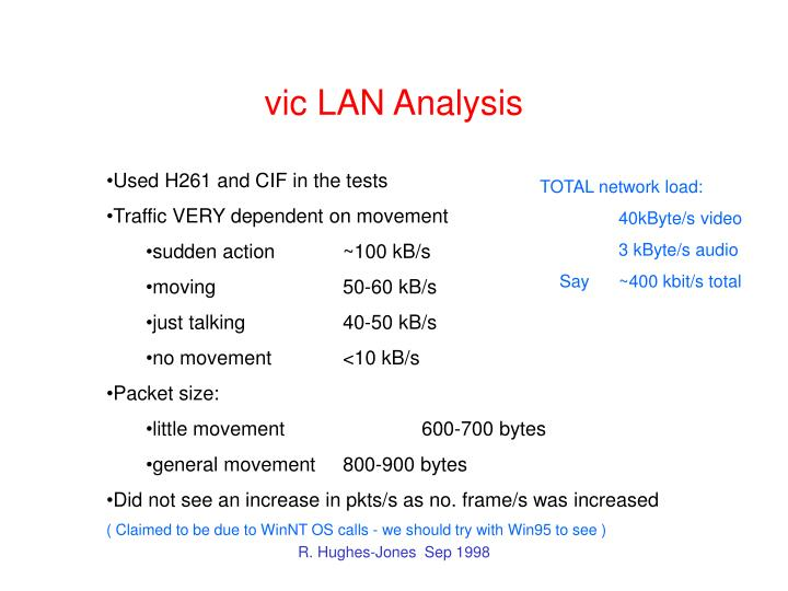 vic LAN Analysis