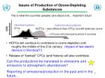 issues of production of ozone depleting substances