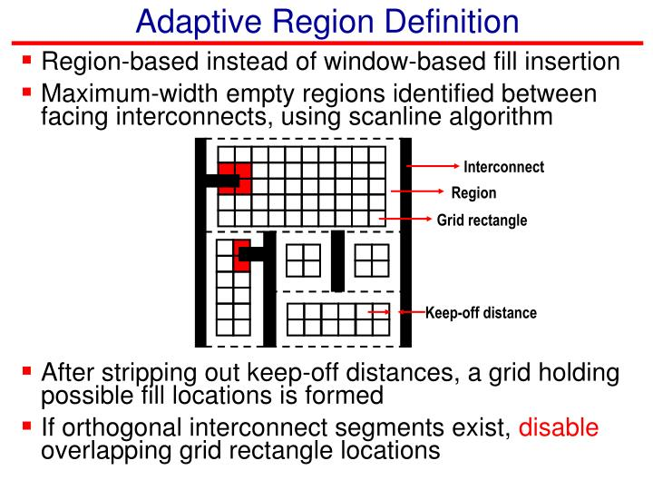 Adaptive Region Definition