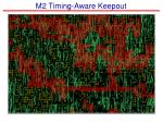 m2 timing aware keepout