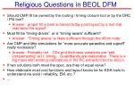 religious questions in beol dfm