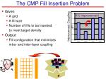 the cmp fill insertion problem