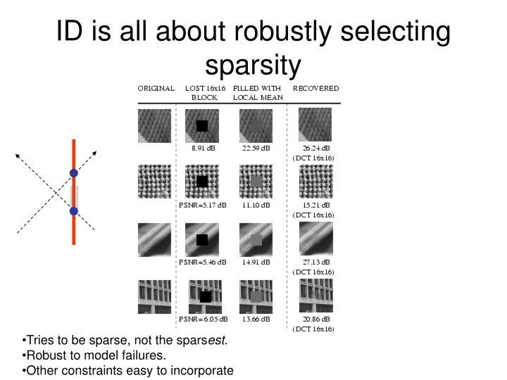 ID is all about robustly selecting sparsity