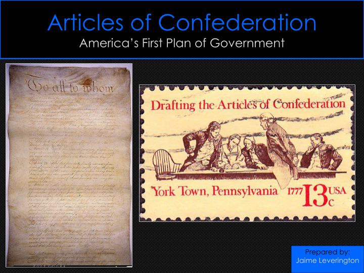 articles from confederation early on america