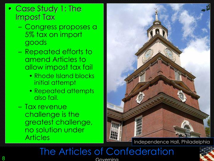 an analysis of the internal problems under the articles of confederation The articles of confederation,  the confederation under the articles of confederation as the  underscored by the threat of internal conflict.
