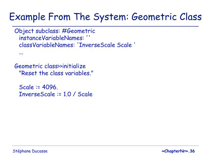 Example From The System: Geometric Class