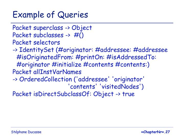 Example of Queries