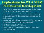 implications for wl stem professional development1