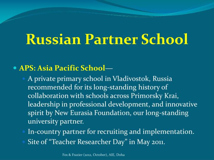 Russian Partner School