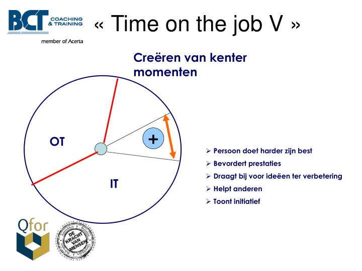 « Time on the job V »
