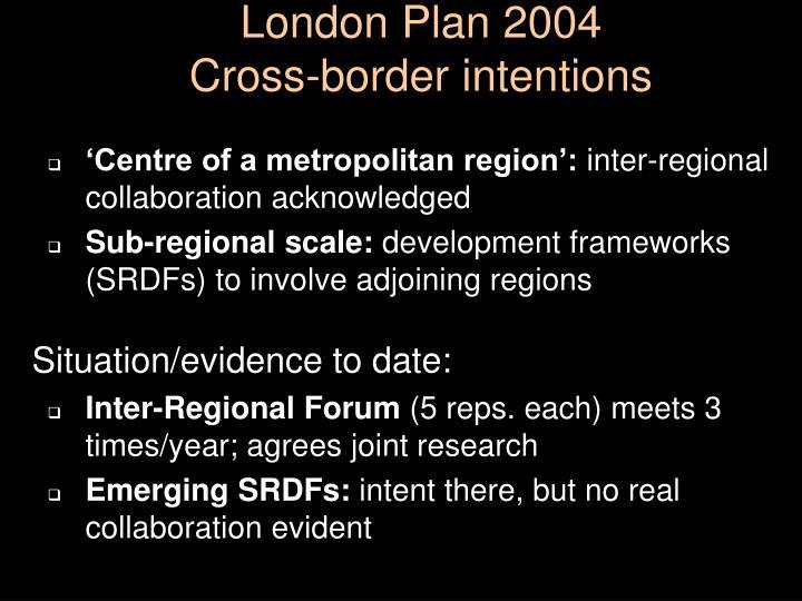 London Plan 2004