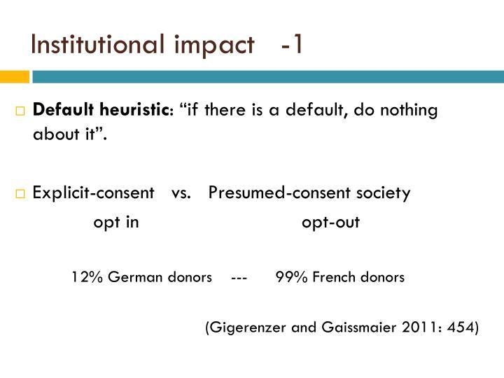 Institutional impact   -1