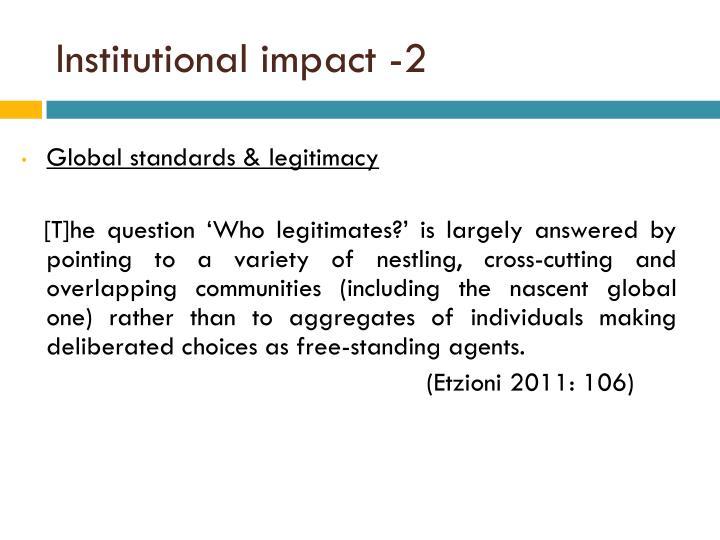 Institutional impact -2