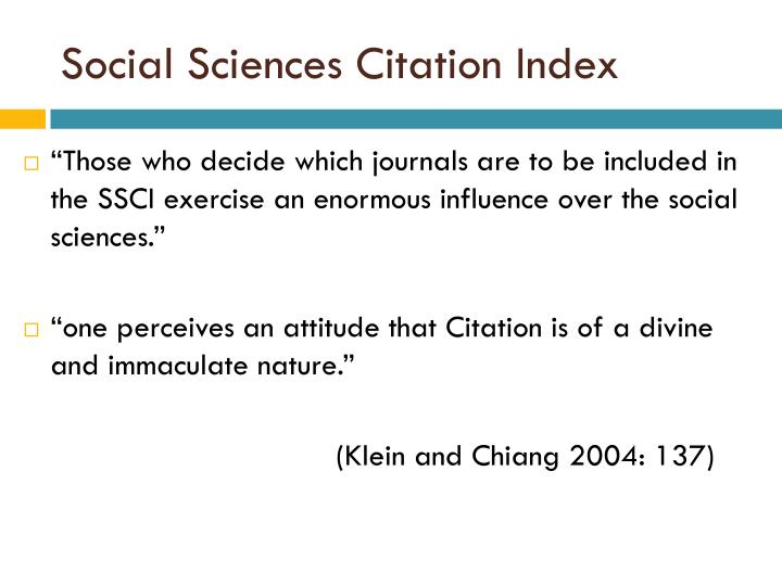 Social Sciences Citation Index
