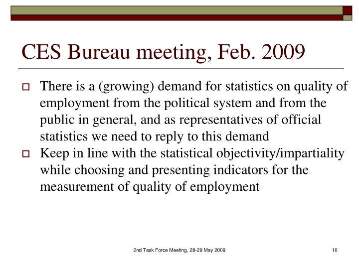 CES Bureau meeting, Feb. 2009