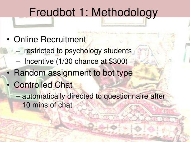 Freudbot 1: Methodology