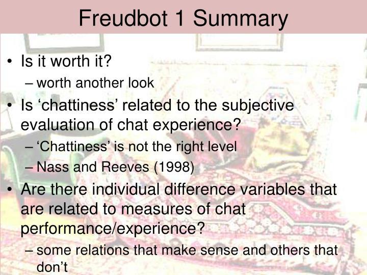 Freudbot 1 Summary