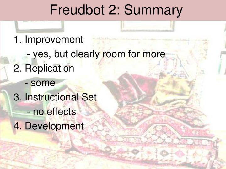 Freudbot 2: Summary